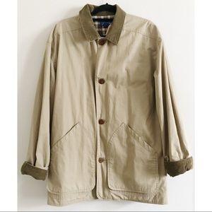 Vintage J. Crew Chore Jacket Khaki